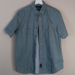 Sean John Green Short-Sleeve Casual Shirt